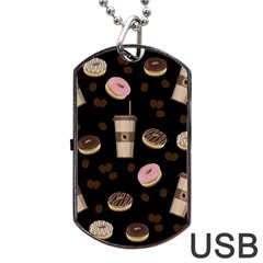Coffee Break Dog Tag Usb Flash (one Side) by Valentinaart
