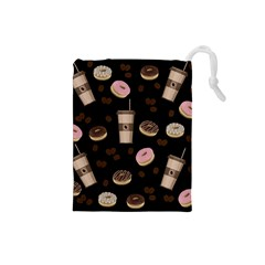 Coffee Break Drawstring Pouches (small)  by Valentinaart