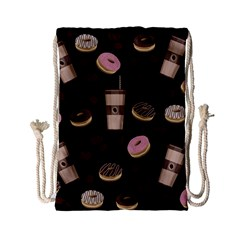 Coffee Break Drawstring Bag (small) by Valentinaart