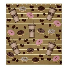 Coffee And Donuts  Shower Curtain 66  X 72  (large)  by Valentinaart