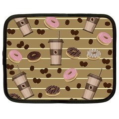 Coffee And Donuts  Netbook Case (xxl)