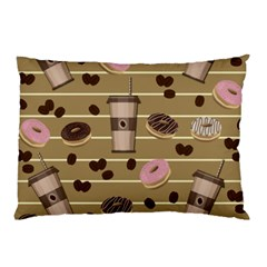 Coffee And Donuts  Pillow Case (two Sides) by Valentinaart