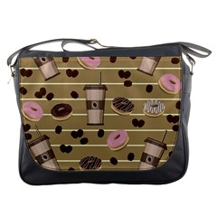 Coffee And Donuts  Messenger Bags