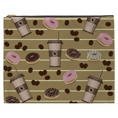 Coffee And Donuts  Cosmetic Bag (xxxl)
