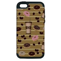 Coffee And Donuts  Apple Iphone 5 Hardshell Case (pc+silicone) by Valentinaart
