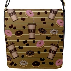 Coffee And Donuts  Flap Messenger Bag (s) by Valentinaart