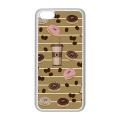 Coffee And Donuts  Apple Iphone 5c Seamless Case (white) by Valentinaart