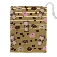 Coffee And Donuts  Drawstring Pouches (xxl) by Valentinaart