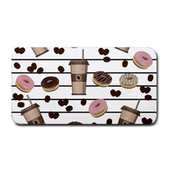 Donuts And Coffee Pattern Medium Bar Mats by Valentinaart