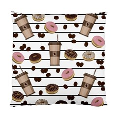 Donuts And Coffee Pattern Standard Cushion Case (two Sides) by Valentinaart