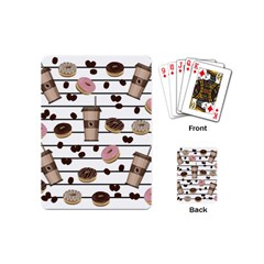 Donuts And Coffee Pattern Playing Cards (mini)  by Valentinaart