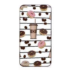 Donuts And Coffee Pattern Apple Iphone 4/4s Seamless Case (black) by Valentinaart