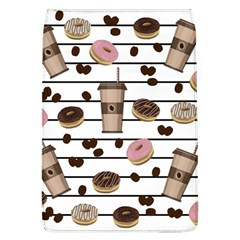 Donuts And Coffee Pattern Flap Covers (l)  by Valentinaart