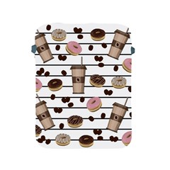 Donuts And Coffee Pattern Apple Ipad 2/3/4 Protective Soft Cases by Valentinaart