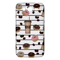 Donuts And Coffee Pattern Samsung Galaxy Mega 5 8 I9152 Hardshell Case  by Valentinaart