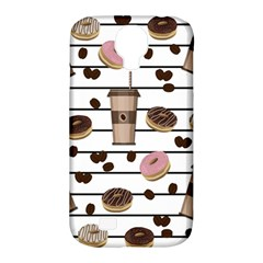 Donuts And Coffee Pattern Samsung Galaxy S4 Classic Hardshell Case (pc+silicone) by Valentinaart