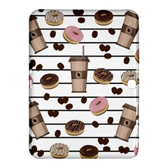 Donuts And Coffee Pattern Samsung Galaxy Tab 4 (10 1 ) Hardshell Case  by Valentinaart