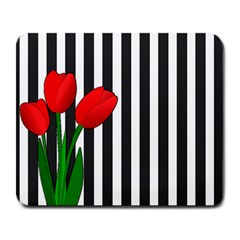 Tulips Large Mousepads by Valentinaart