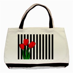 Tulips Basic Tote Bag by Valentinaart
