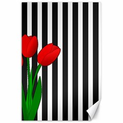 Tulips Canvas 24  X 36  by Valentinaart