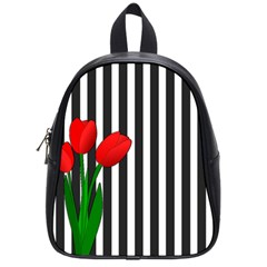 Tulips School Bags (small)  by Valentinaart