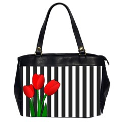 Tulips Office Handbags (2 Sides)  by Valentinaart