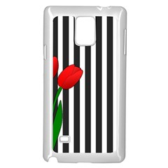 Tulips Samsung Galaxy Note 4 Case (white) by Valentinaart