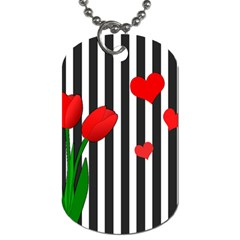 Tulips Dog Tag (two Sides) by Valentinaart