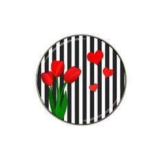 Tulips Hat Clip Ball Marker (4 Pack) by Valentinaart