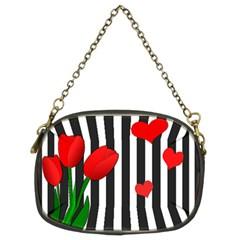 Tulips Chain Purses (two Sides)  by Valentinaart