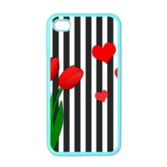 Tulips Apple Iphone 4 Case (color) by Valentinaart