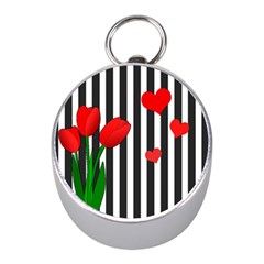 Tulips Mini Silver Compasses by Valentinaart