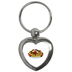 Pancakes   Shrove Tuesday Key Chains (heart)  by Valentinaart