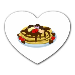 Pancakes   Shrove Tuesday Heart Mousepads by Valentinaart