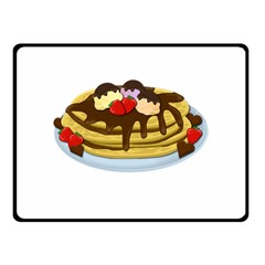 Pancakes   Shrove Tuesday Fleece Blanket (small) by Valentinaart