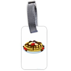 Pancakes   Shrove Tuesday Luggage Tags (one Side)  by Valentinaart
