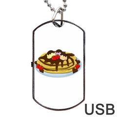 Pancakes   Shrove Tuesday Dog Tag Usb Flash (one Side) by Valentinaart