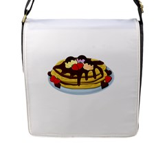 Pancakes   Shrove Tuesday Flap Messenger Bag (l)  by Valentinaart