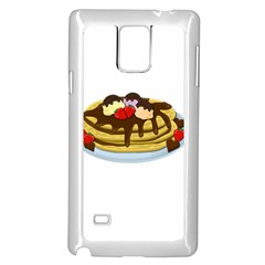 Pancakes   Shrove Tuesday Samsung Galaxy Note 4 Case (white) by Valentinaart