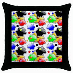 Pattern Background Wallpaper Design Throw Pillow Case (black) by Nexatart