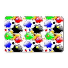 Pattern Background Wallpaper Design Magnet (rectangular) by Nexatart