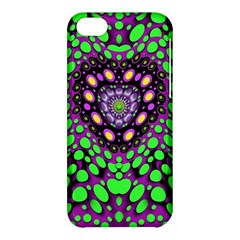 Dots And Very Hearty Apple Iphone 5c Hardshell Case by pepitasart