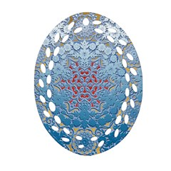 Pattern Background Pattern Tile Oval Filigree Ornament (two Sides) by Nexatart