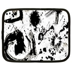 Pattern Color Painting Dab Black Netbook Case (xxl)