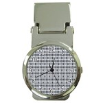 Pattern Grid Squares Texture Money Clip Watches Front