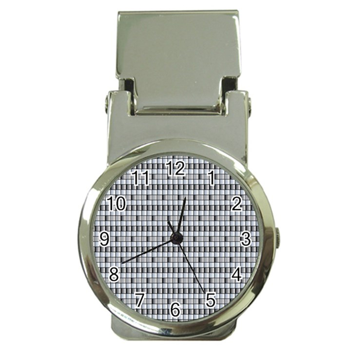 Pattern Grid Squares Texture Money Clip Watches