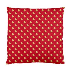 Pattern Felt Background Paper Red Standard Cushion Case (one Side)