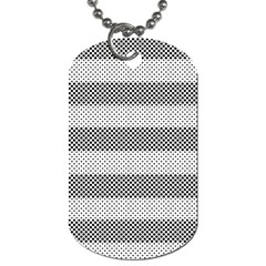 Pattern Half Tone Dog Tag (two Sides)