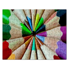 Pen Crayon Color Sharp Red Yellow Rectangular Jigsaw Puzzl by Nexatart
