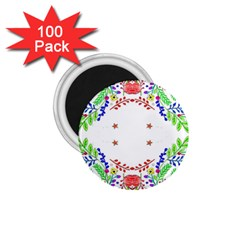 Holiday Festive Background With Space For Writing 1 75  Magnets (100 Pack)